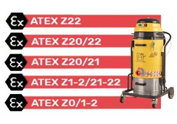 Aspiración zonas certificadas Atex