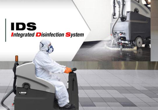Fregadora para desinfección suelos