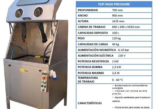 Lavadora de piezas alta presión