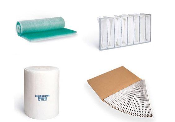 Recambio de filtros para cabinas de pintura